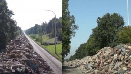 O autostrada din Belgia a devenit depozit pentru 90.000 de tone de gunoi, dupa <span style='background:#EDF514'>INUNDATIILE</span> devastatoare din iulie