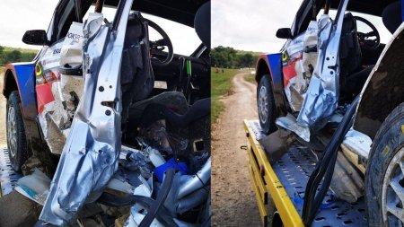 Un pilot a intrat in coma dupa ce masina lui s-a rasturnat la <span style='background:#EDF514'>RALIU</span>l Iasiului