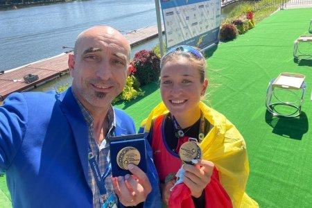 Campioana <span style='background:#EDF514'>OLIMPICA</span> Simona Radis a castigat titlul european la simplu, dar si la 8 plus 1!