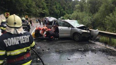 Brasov: Un barbat a decedat si alte trei persoane au fost ranite dupa un accident la Rupea