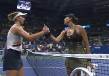 Scandal cu scantei la US Open! Muguruza s-a burzuluit la Krejcikova, care a acuzat probleme de respiratie si a fost ajutata sa iasa de pe teren!