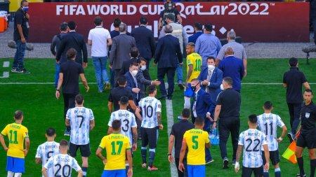 Pandemia a oprit meciul Brazilia - Argentina. Patru jucatori, scosi de pe teren sub pretextul incalcarii regulilor COVID