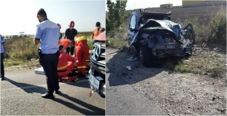 Accident mortal in Ilfov. Doi oameni au murit, dupa ce o masina si o autoutilitara s-au ciocnit