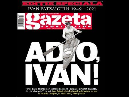 Editie speciala a Gazetei pentru Ivan Patzaichin la toate chioscurile din tara! 10 pagini despre legendarul sportiv roman si coperta-omagiu