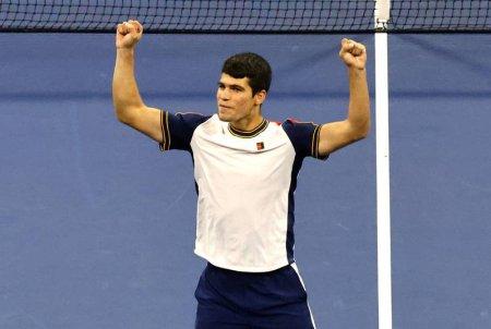 Spaniolul Alcaraz este cel mai tanar jucator ajuns in sferturi la US Open