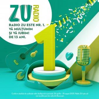 Radio ZU este lider de audienta la nivelul publicului comercial din Bucuresti cu o medie de peste 130.000 de ascultatori unici si o cota de piata de 14.4%
