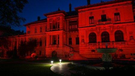 De ce Palatul Cotroceni este azi, de la ora 20.00, iluminat in rosu