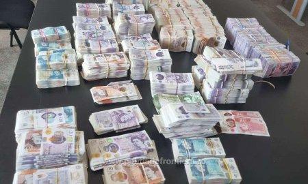 Aproape 500.000 de lire sterline, confiscate de Politia de Frontiera Giurgiu dintr-un foc
