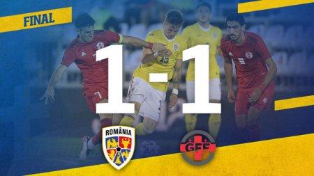 Romania U21 a remizat cu Georgia U21, intr-un amical jucat la Voluntari