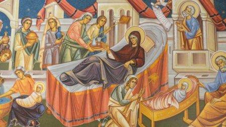 Calendar ortodox 8 septembrie. Sarbatoare cu cruce rosie de Nasterea Maicii Domnului