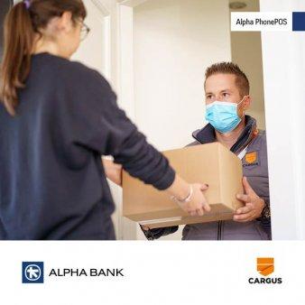 Cargus devine prima companie de curierat din Romania care foloseste o solutie PIN on Glass - Alpha PhonePOS, furnizata de Alpha Bank Romania