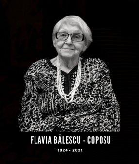 A murit Flavia Balescu-Coposu. Sora cea mare a lui Corneliu Coposu avea 96 de ani