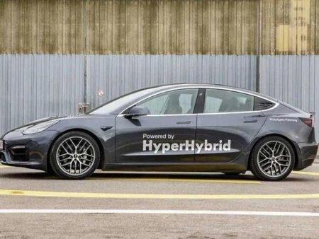 Primul hibrid Tesla Model 3 parcurge 50 de kilometri cu un litru de benzina