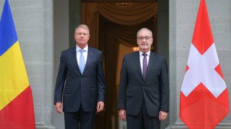 Presedintele Klaus Iohannis, in Elvetia: Avem un guvern care merge mai departe