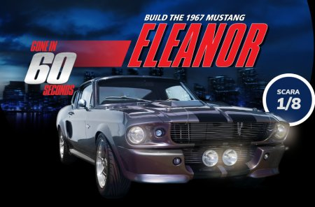 Construieste-ti acum Mustang Eleanor 1:8!