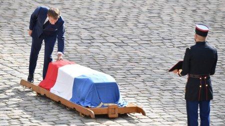 Emmanuel Macron, tribut emotionant adus marelui actor Jean-Paul Belmondo, la funerariile acestuia de la Paris