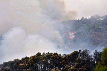 MAE a emis o avertizare de calatorie in Spania: Incendiu activ de vegetatie forestiera in provincia Malaga