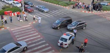 Masina de politie care transporta doua persoane la audieri, implicata intr-un accident rutier, la Focsani