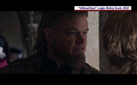 Ben Affleck si Matt Damon, pe covorul rosu la <span style='background:#EDF514'>VENETIA</span>. Cei doi au avut premiera filmului Ultimul Duel