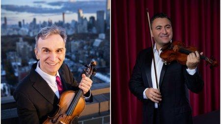 Doi mari violonisti ai lumii, Gil Shaham si Maxim Vengerov, incanta publicul din Romania cu talentul si viorile lor Stra<span style='background:#EDF514'>DIVA</span>rius