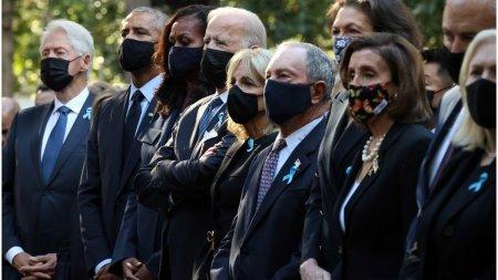 Moment de reculegere in New York, la 20 de ani de la atacurile teroriste din 11 septembrie. Joe Biden este alaturi de Barack <span style='background:#EDF514'>OBAMA</span> si Bill Clinton