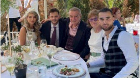 Primele imagini de la nunta fiicei lui Anghel Iordanescu, nasita de <span style='background:#EDF514'>GIGI</span> Becali
