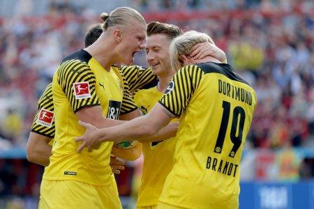 Spectacol total in derby-ul <span style='background:#EDF514'>BAYER</span> Leverkusen - Borussia Dortmund: 7 goluri si dubla Haaland