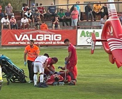 Incident grav la un meci de fotbal din Liga a III-a: un jucator a cazut inconstient