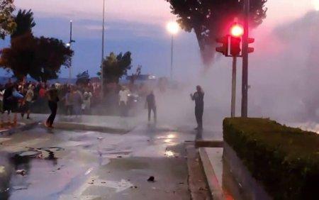 Proteste pe strazile din Salonic. Manifestantii, nemultumiti de masurile luate de guvern impotriva pandemiei
