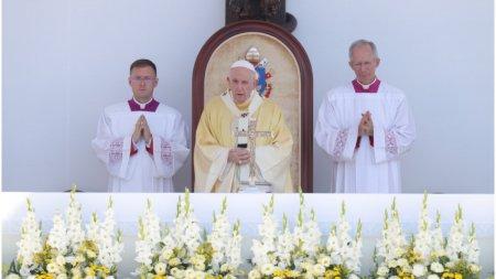 Papa Francisc la Budapesta: Antisemitismul este un f<span style='background:#EDF514'>ITIL</span> care trebuie stins