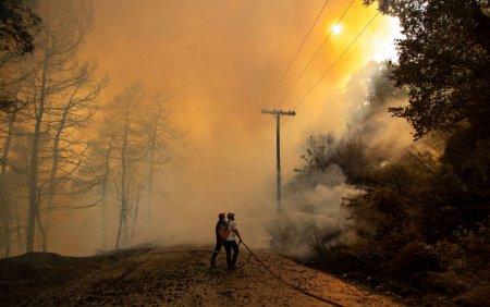 Infernul din Grecia, provocat de <span style='background:#EDF514'>INCALZIRE</span>a globala. Legatura cu sutele de hectare de padure arse. In zodia Codului Rosu
