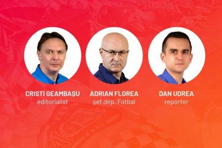 Vocile Gazetei » FCSB - Dinamo, comentat live de Cristian Geambasu, Adrian Florea si Dan Udrea