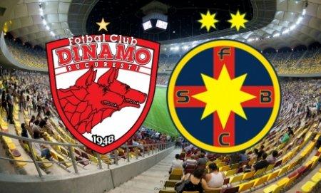 FCSB conduce Dinamo cu 4-0 la pauza