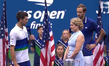 Reactii dupa finala de la US Open. <span style='background:#EDF514'>DJOKOVIC</span>: Chiar daca am pierdut, sunt cel mai fericit om de pe pamant   Medvedev catre <span style='background:#EDF514'>DJOKOVIC</span>: N-am spus-o niciodata, pentru mine esti cel mai mare jucator din istorie