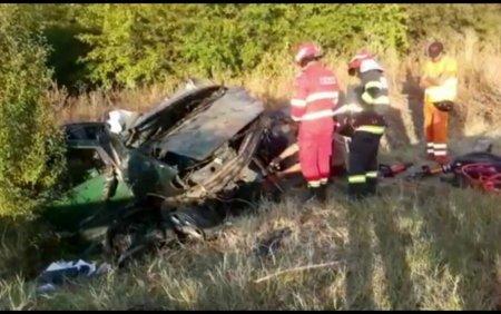 Accident grav pe DN 6. O persoana a murit, iar alte doua au ajuns la spital