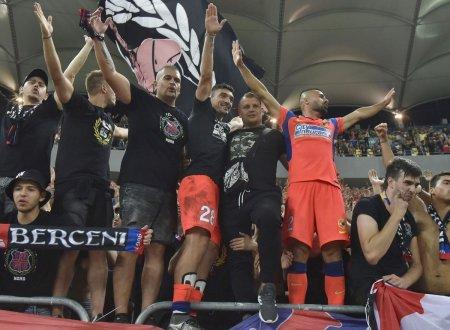 Imaginile bucuriei » Ros-albastrii, show alaturi de galerie dupa victoria cu Dinamo