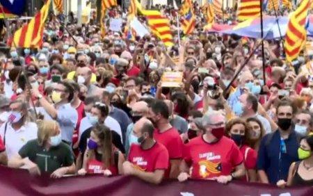 Protest al separatistilor, in weekend, la Barcelona. Ce vor sa demonstreze la patru ani de la incercarea de secesiune