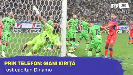 Giani Kirita, dupa u<span style='background:#EDF514'>MILIN</span>ta din Derby de Romania: Dinamo se bate cel mult la play-out! Nu vreau sa zic lucruri mai rele