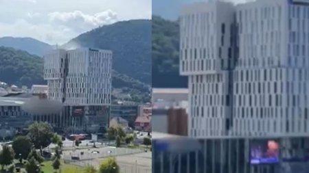 Incendiu la cel mai mare mall din Brasov