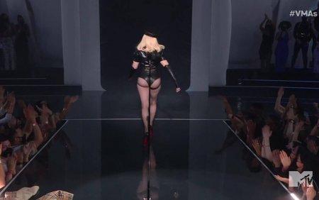 Aparitie uimitoare a Madonnei la gala MTV. Cum arata <span style='background:#EDF514'>DIVA</span> la 63 de ani in costum de piele