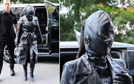 Vedeta care a iesit pe strada imbracata complet in piele neagra. A avut si fata acoperita. <span style='background:#EDF514'>GALERIE FOTO</span>