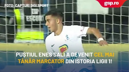 Enes Sali, gol in <span style='background:#EDF514'>LIGA 1</span> la doar 15 ani!