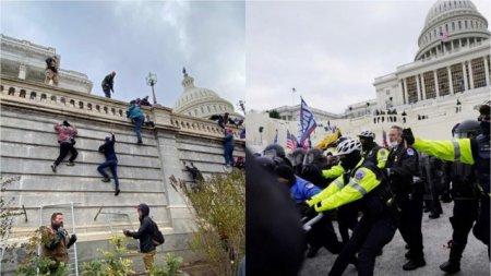 Gardul de protectie de la Capitoliu va fi reinstalat provizoriu, inaintea unui protest