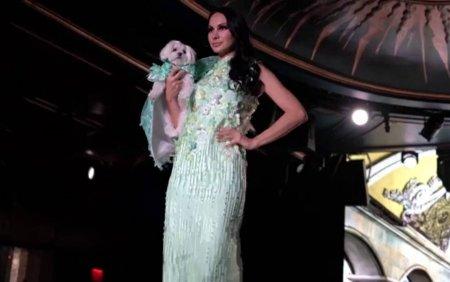 Noile tendinte in moda c<span style='background:#EDF514'>ANINA</span> au fost prezentate la New York. Zeci de catei au defilat alaturi de manechine