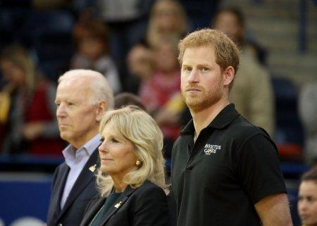 Printul Harry si Prima Doamna a SUA Jill Biden au adus un omagiu ranitilor de razboi americani