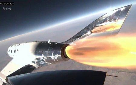Compania Virgin Galactic a amanat urmatoarea calatorie in spatiu. <span style='background:#EDF514'>MOTIVUL</span>: un defect de fabricatie la sistemul de control
