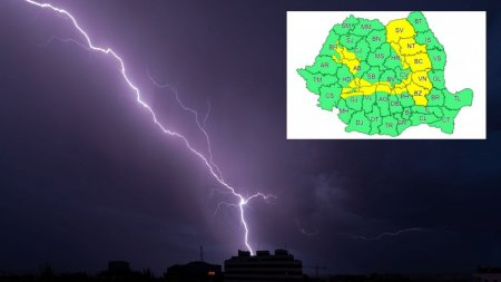 Avertizare meteo ANM de vreme <span style='background:#EDF514'>SEVERA</span> imediata. Ploi torentiale de pana la 40 de litri pe metru patrat