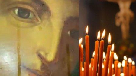 Icoana Maicii Domnului dintr-o biserica din Gorj a inceput sa lacrimeze