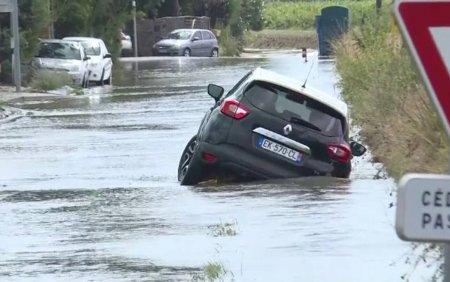 O furtuna din sudul Frantei a facut prapad. In sase ore a plouat cat in doua luni