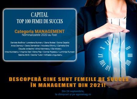 Cele mai puternice femei din top managementul romanesc, prezentate de Capital. Urmeaza sa apara Top 100 femei de succes editia 2021